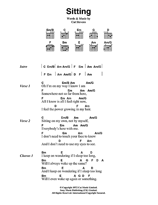Sitting Sheet Music