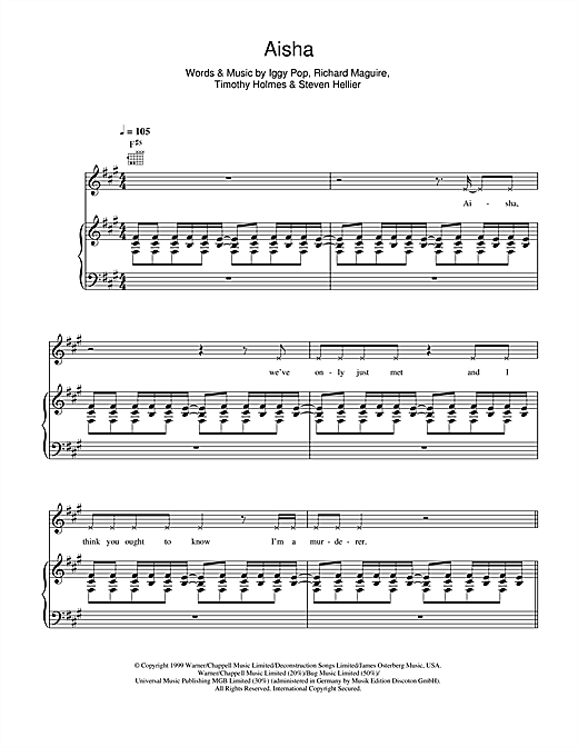 Aisha Sheet Music