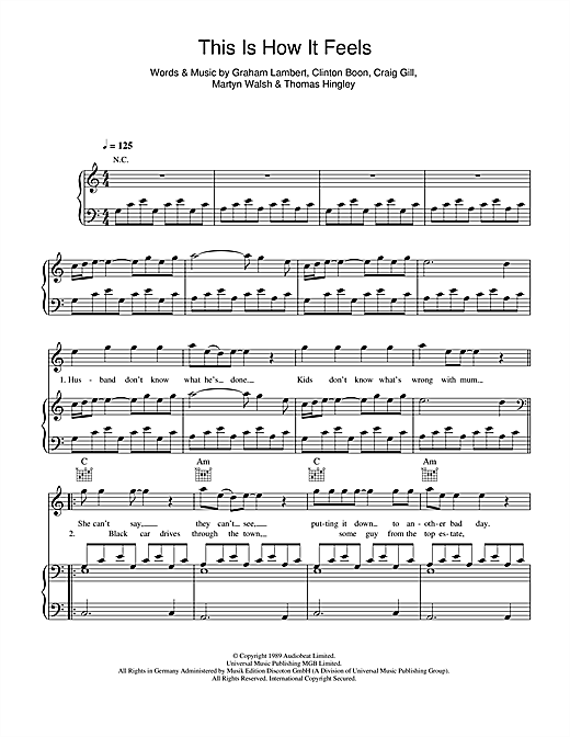 This Is How It Feels Sheet Music