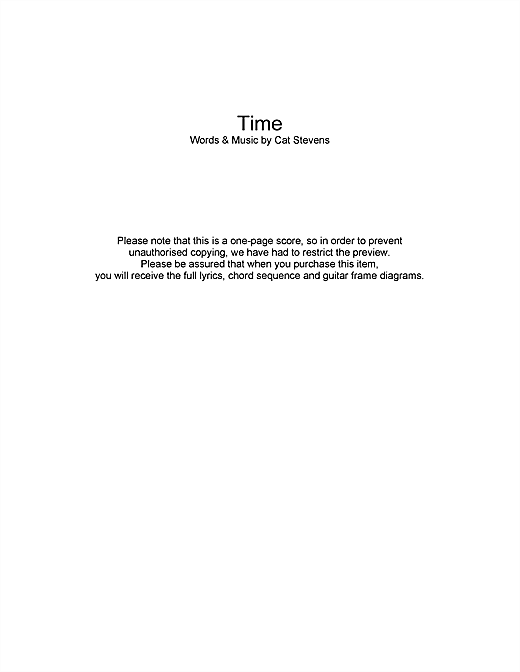 Time (Guitar Chords/Lyrics)