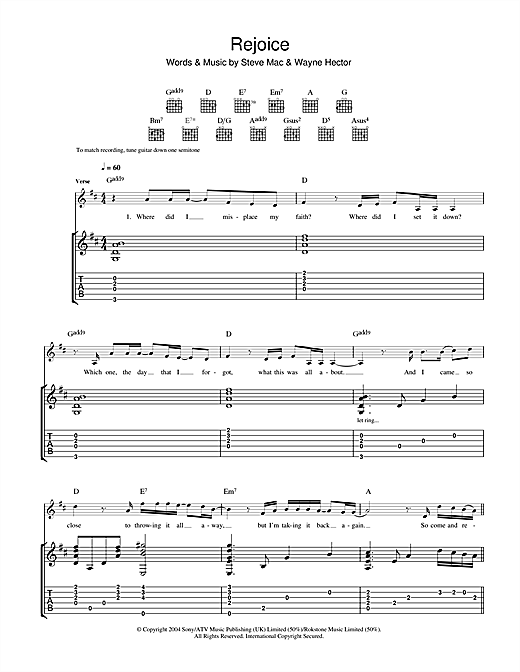 Rejoice Sheet Music