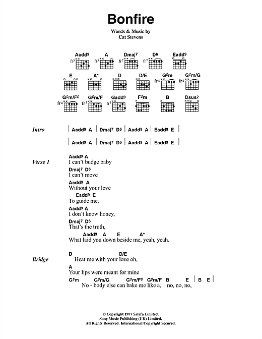 Bonfire Sheet Music