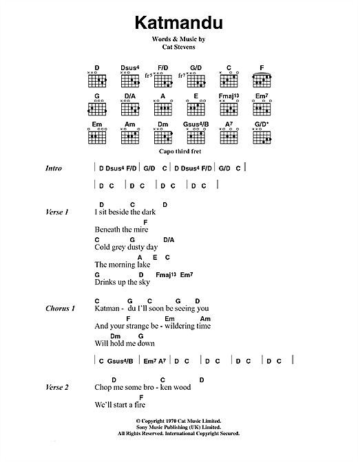 Katmandu Sheet Music