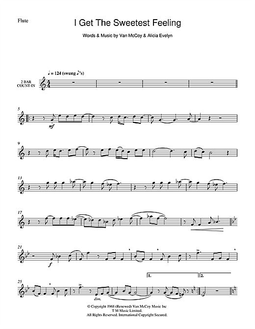 I Get The Sweetest Feeling Sheet Music