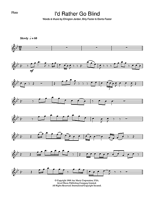 I\'d Rather Go Blind sheet music by Etta James (Flute – 45246)