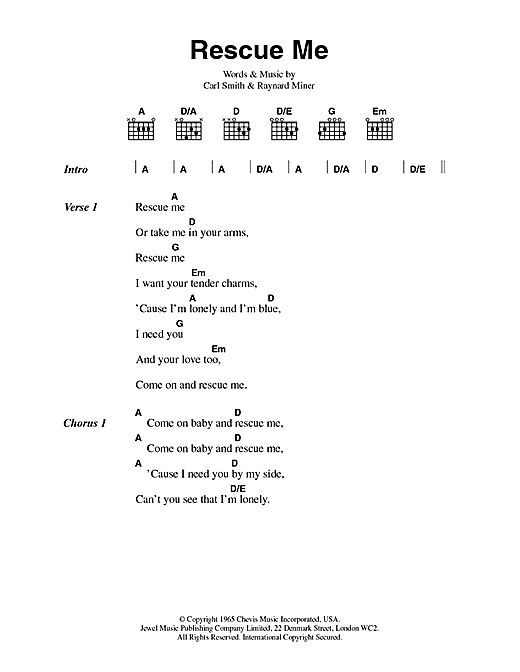 Rescue Me Sheet Music