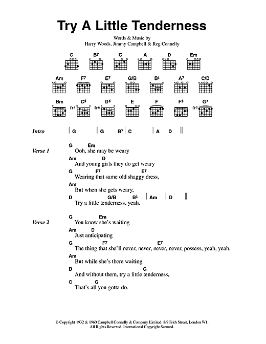Try A Little Tenderness Sheet Music