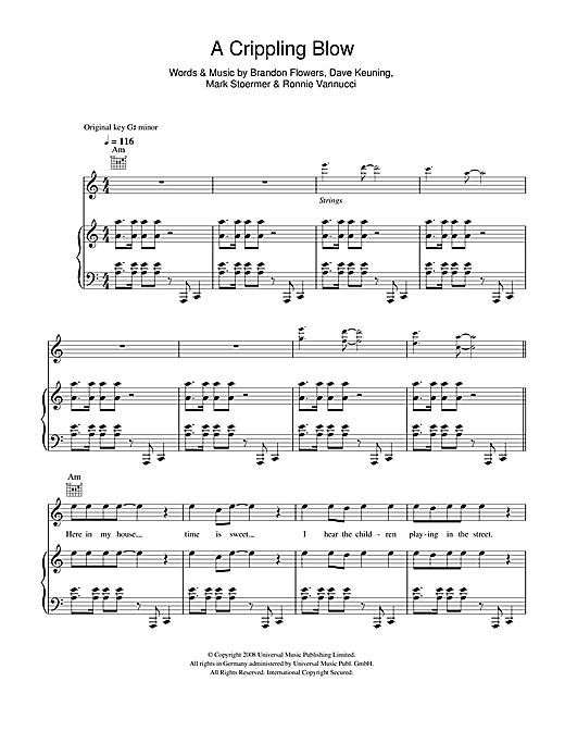 A Crippling Blow Sheet Music