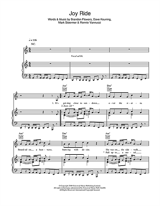 Joy Ride Sheet Music