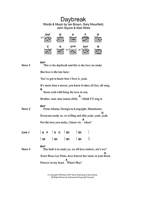 Daybreak Sheet Music