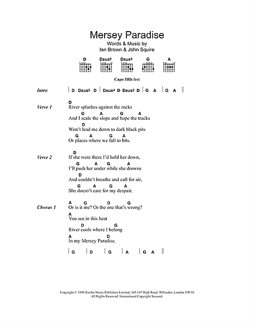 Mersey Paradise Sheet Music