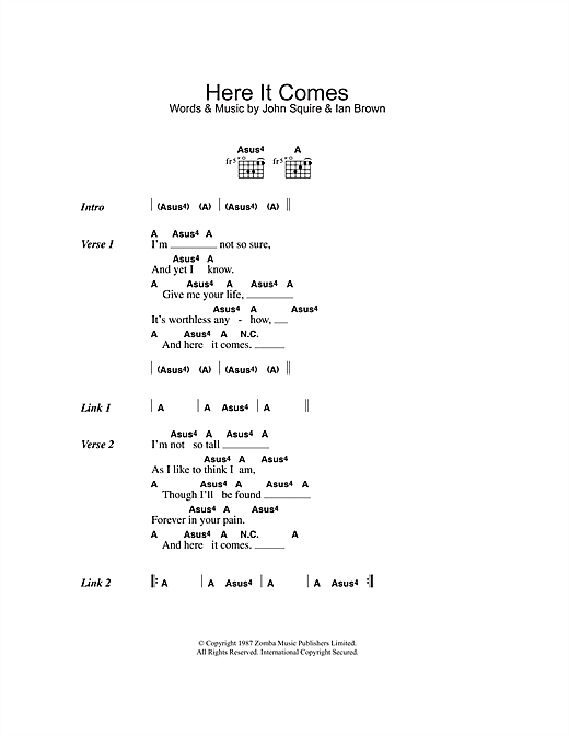 Here It Comes Sheet Music