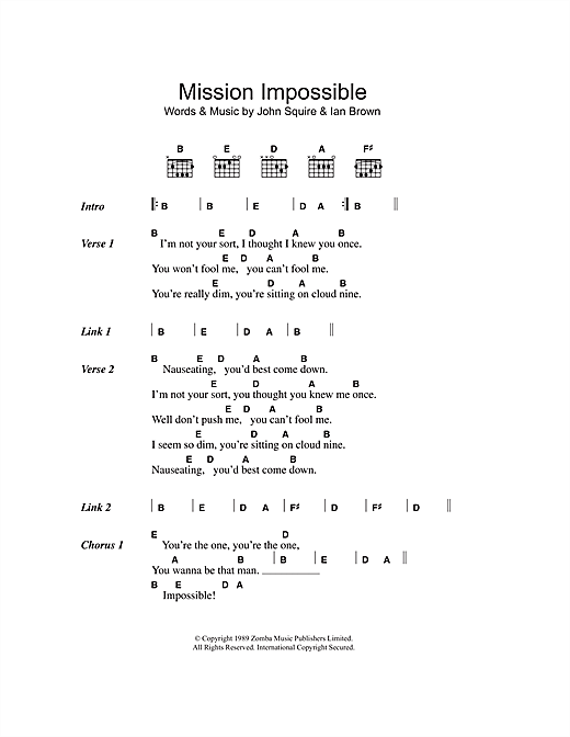 Mission Impossible (Lyrics & Chords)