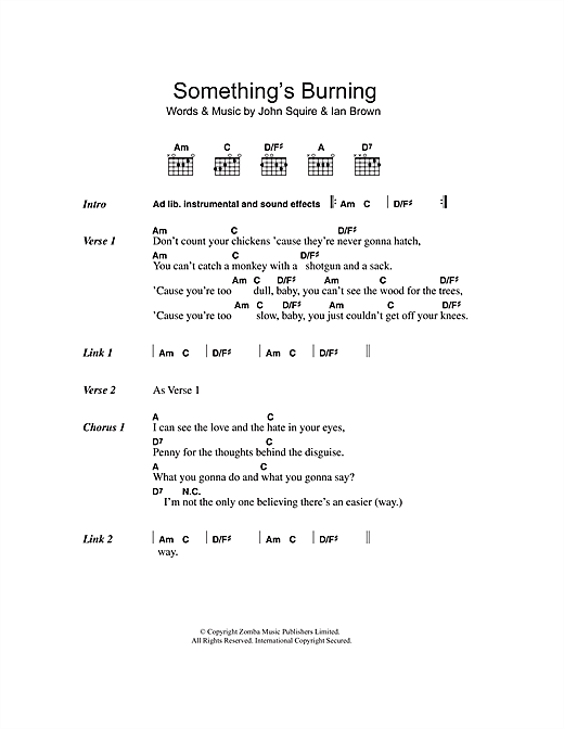 Something's Burning Sheet Music