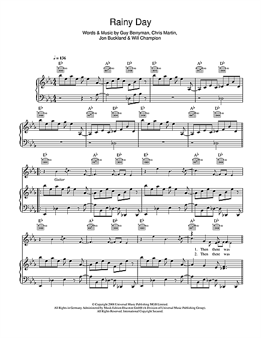 Rainy Day Sheet Music