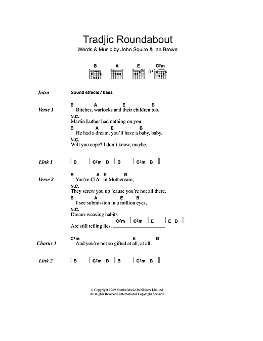 Tradjic Roundabout Sheet Music