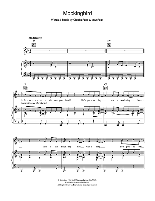 Mockingbird Sheet Music