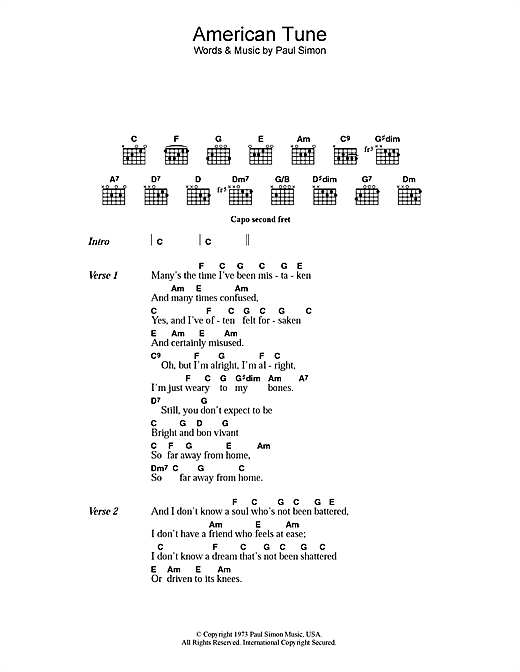 Paul Simon Guitar Chords