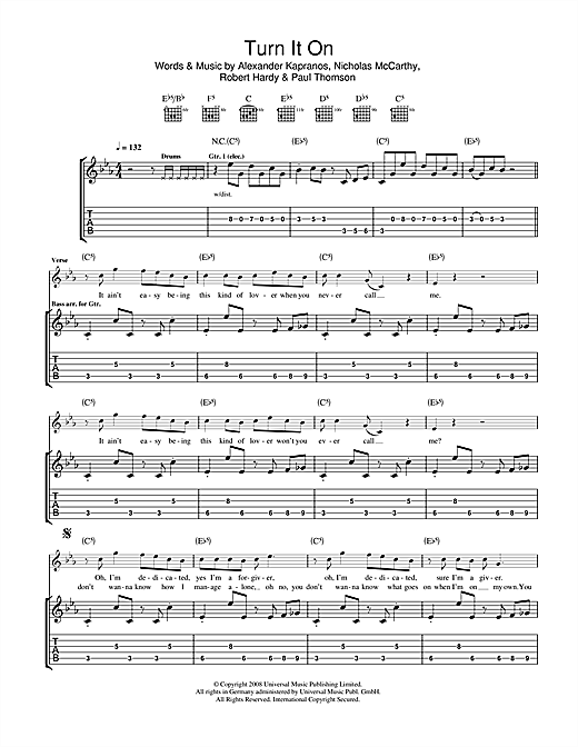 Turn It On Sheet Music