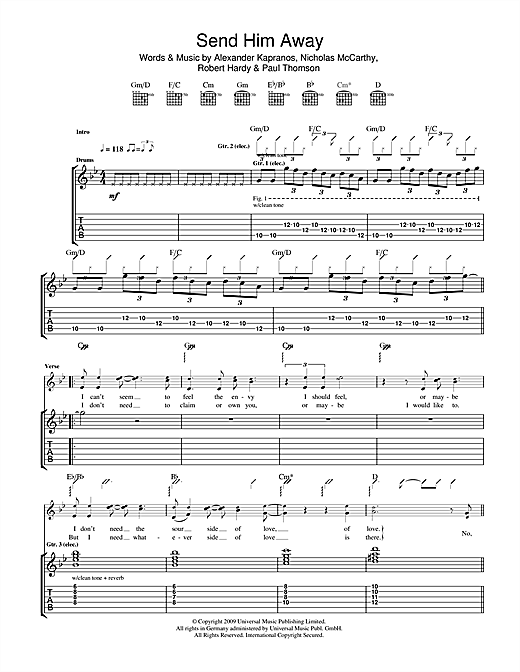 Send Him Away Sheet Music
