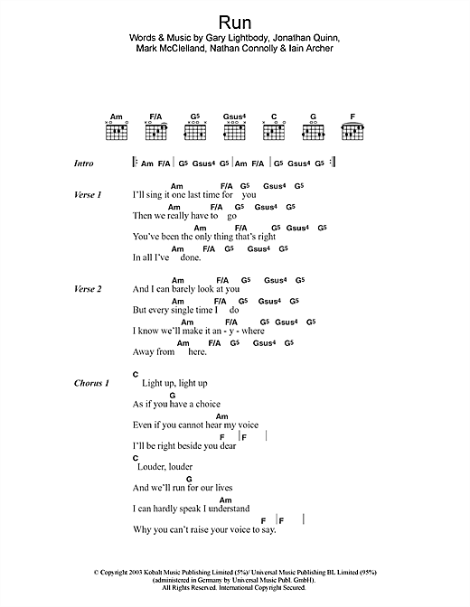 Run Sheet Music