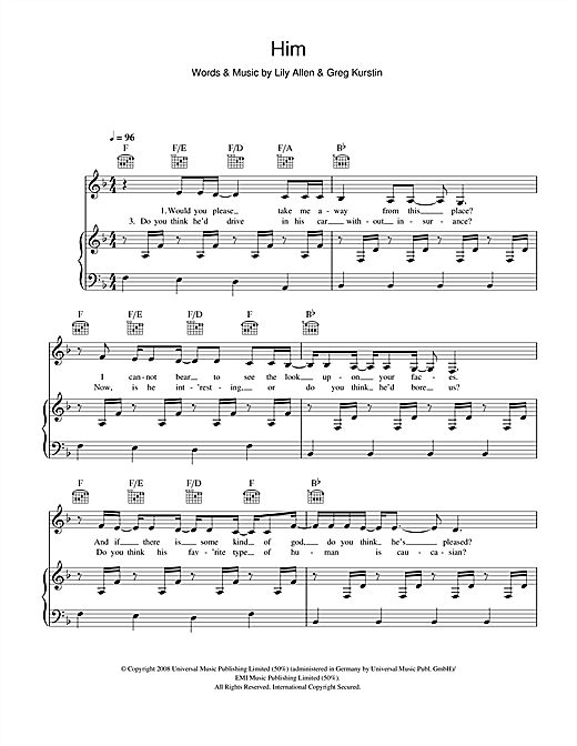 Him Sheet Music