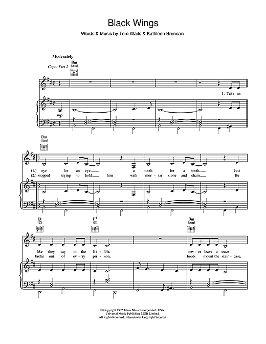 Black Wings Sheet Music