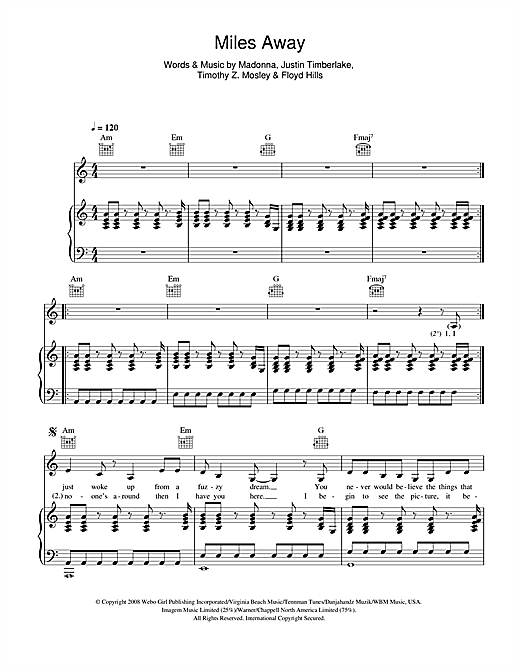Miles Away Sheet Music