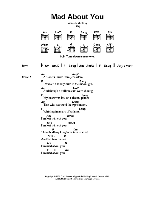 Mad About You Sheet Music