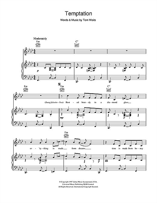 Temptation Sheet Music