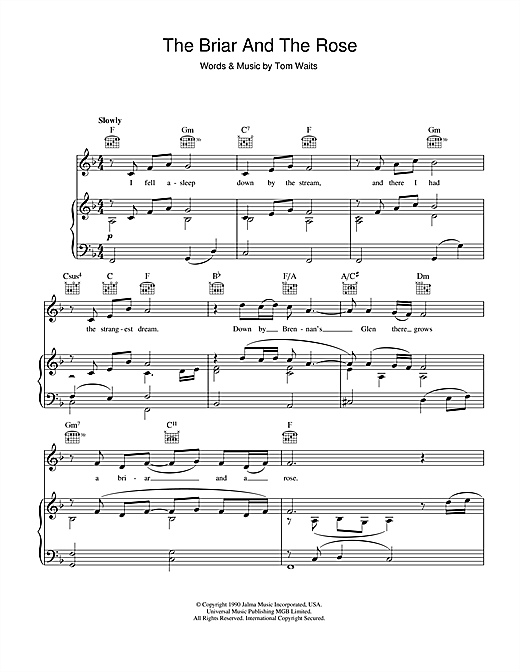 The Briar And The Rose Sheet Music