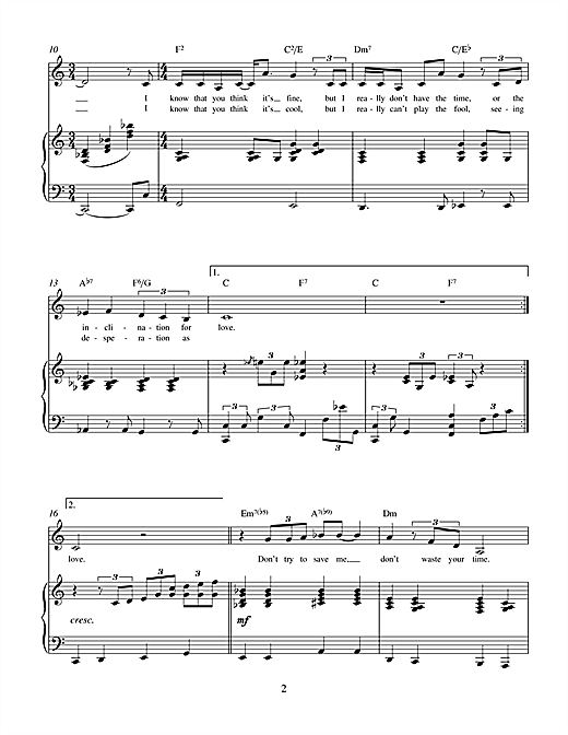 Inclination For Love (from Theatrical Love) Sheet Music