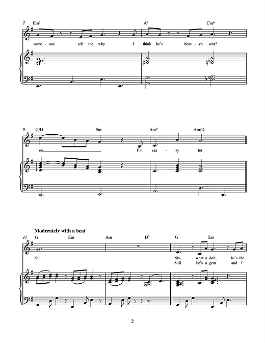 Partition piano Stu (from Brenda Bly de Miller & Hammonds - Piano Voix