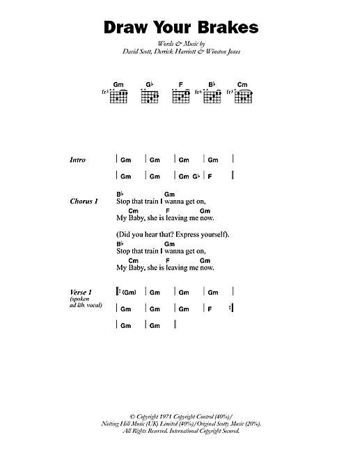 Draw Your Brakes Sheet Music