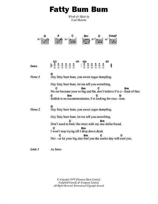 Fatty Bum Bum Sheet Music