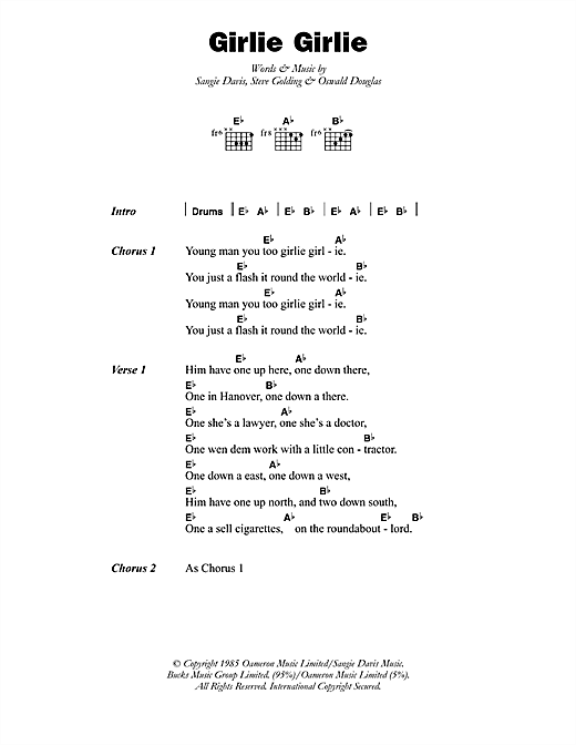 Girlie Girlie Sheet Music