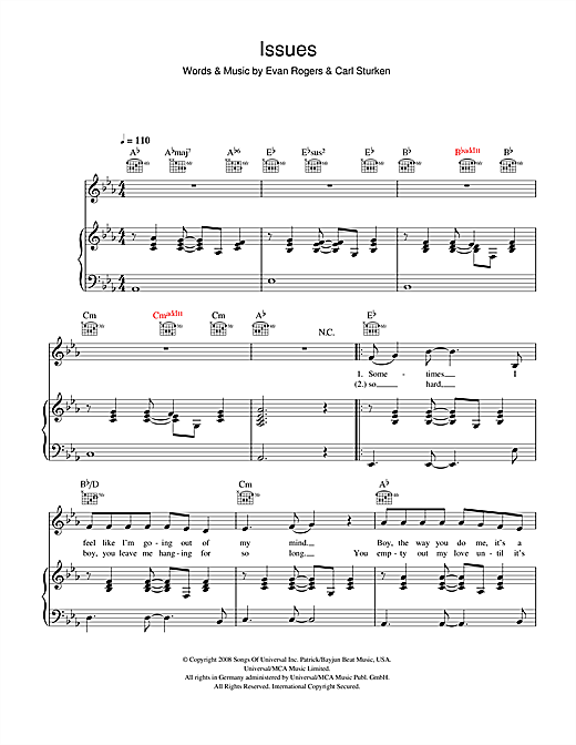 Partition piano Issues de The Saturdays - Piano Voix Guitare