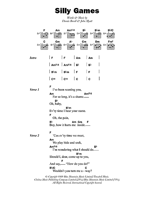 Silly Games Sheet Music
