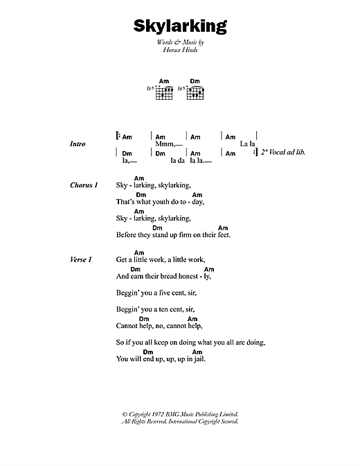 Skylarking Sheet Music