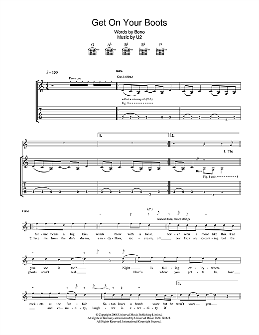 Get On Your Boots Sheet Music