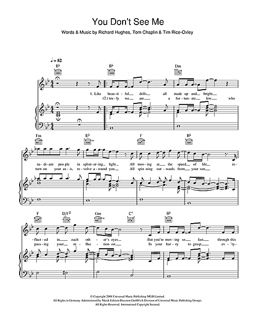 You Don't See Me Sheet Music