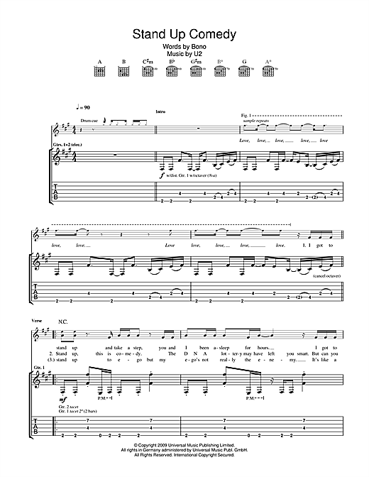 Stand Up Comedy Sheet Music