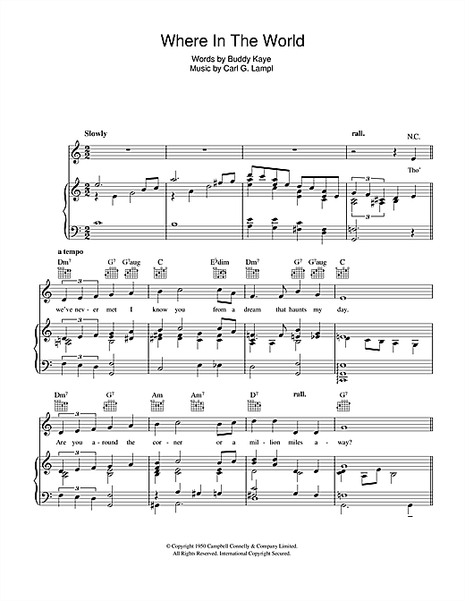 Where In The World Sheet Music