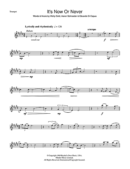 It's Now Or Never Sheet Music