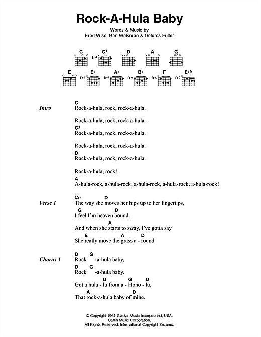 Rock-A-Hula Baby Sheet Music