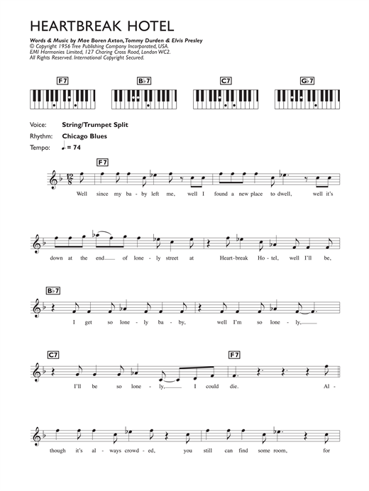 Heartbreak Hotel Sheet Music