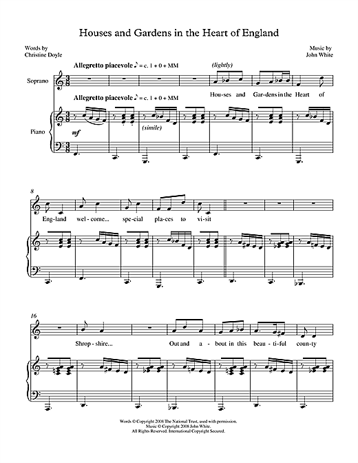 Houses & Gardens in the Heart of England (for soprano & piano) (Piano & Vocal)