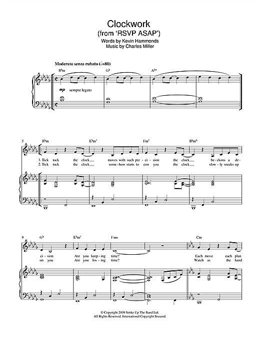Clockwork (from RSVP ASAP) Sheet Music