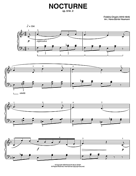 Nocturne, Op.9, No.2 Sheet Music