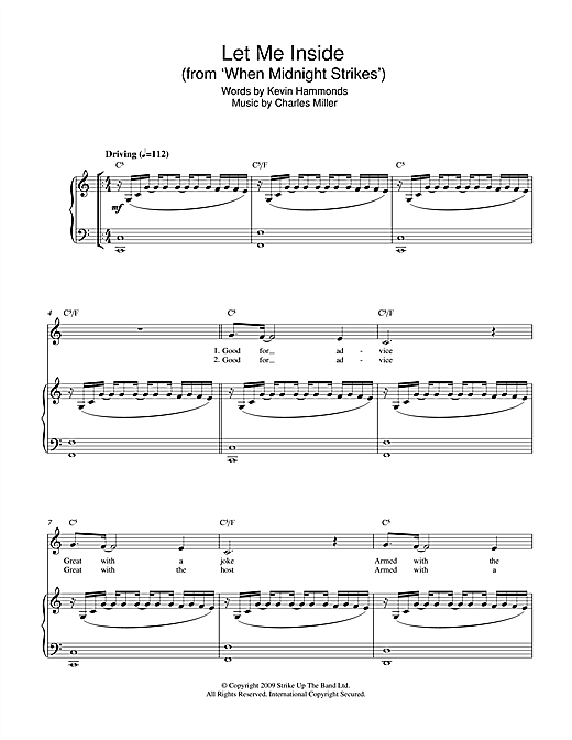 Let Me Inside (from When Midnight Strikes) Sheet Music